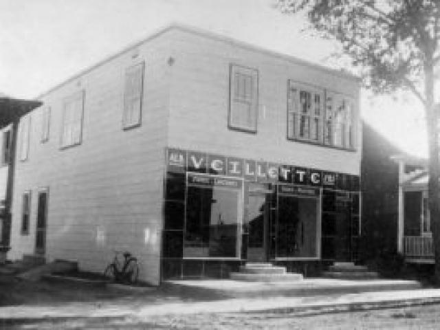 Boucherie Albert Veillette et fils en 1947 - Ville de Saint-Tite
